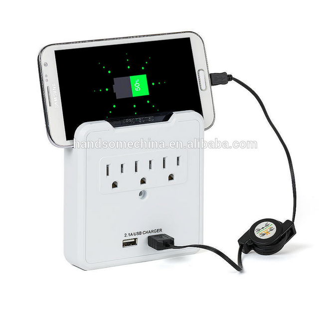 ETL certificated surge protector Electrical Wall Socket with usb outlet