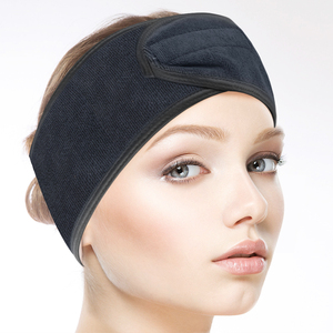 Sunland Microfiber Price Black Embroidered Headband