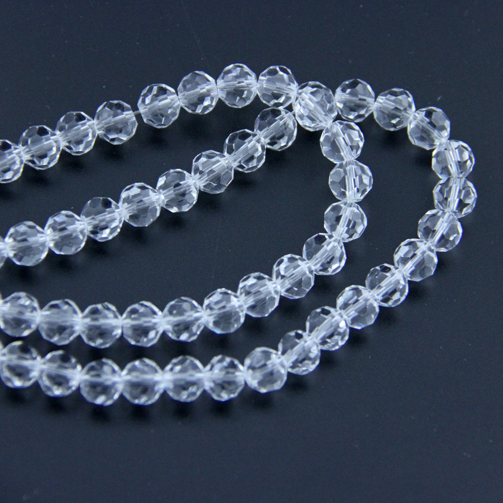 4 30mm Crystal Faceted Ball Beads DIY Chandelier Prism ...
