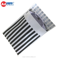 Custom Striped Pattern Poly Mailing Bags For Clothing