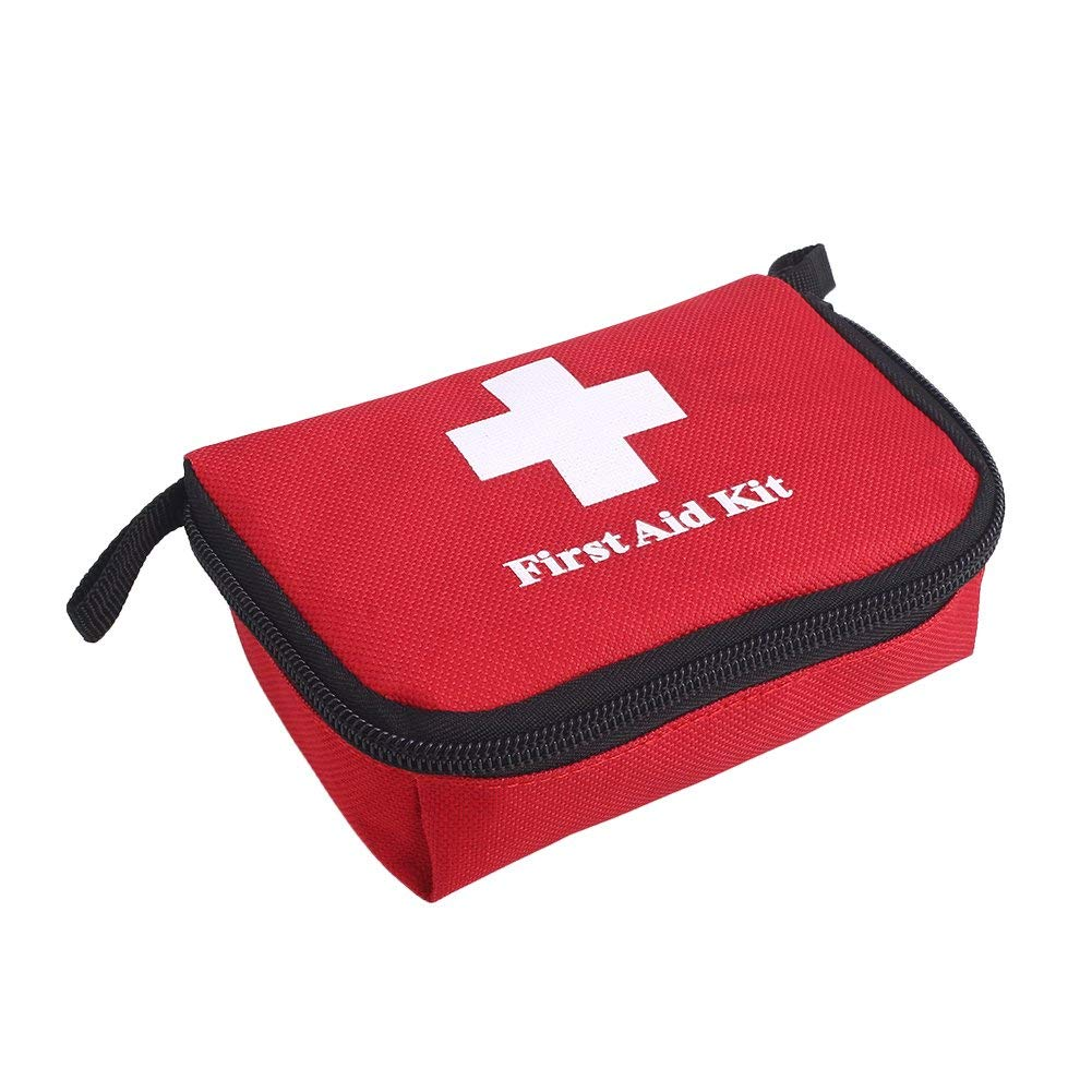 Hanbaili First Aid Empty Kit Bag, First Aid Bag Roomy Empty Kit Bag Medical Emergency Survival Outdoor Pouch Lightweight Portable Empty Canvas Picnic