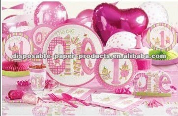 Girls 1st Birthday Party Supplies The Big OneIncluding Tableware