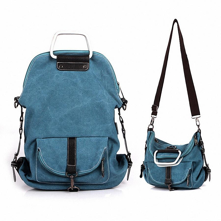 Multifunctional Canvas Backpack shoulder bag Designer Women's School bags For Girl Teenagers Casual Travel Backpacks LI-368