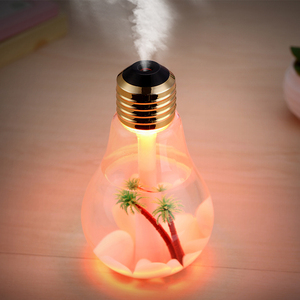 2018 New Gift promotion products colorful led light ultrasonic cool mist car bulb humidifier