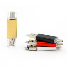 Hot popular golden/sliver 3 port type C usb flash drive