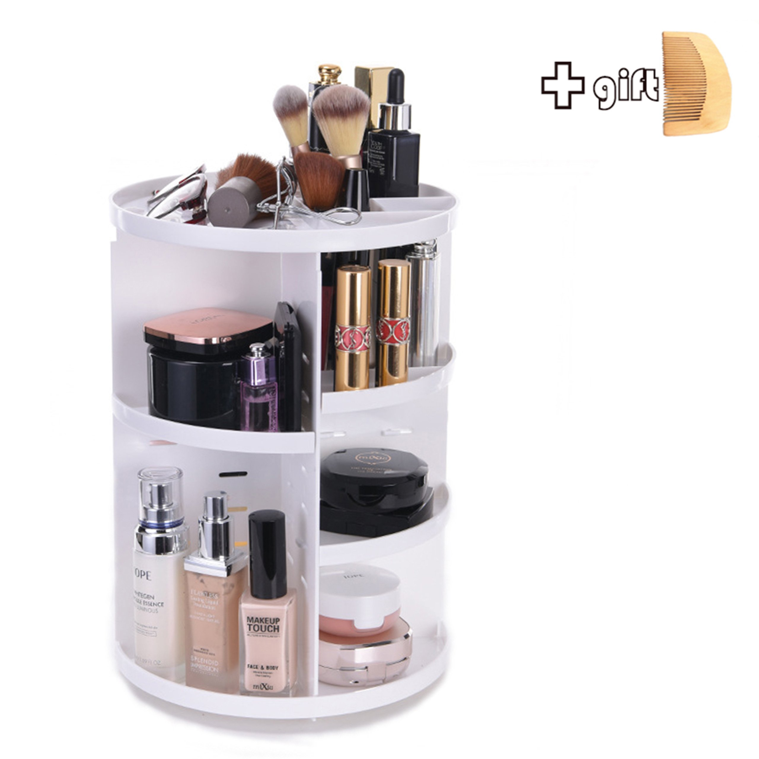 Get Quotations · MJKITTY Cosmetic Storage Box U0026 Shelf  Adjustable Makeup  Organizer With Multi Function   Large