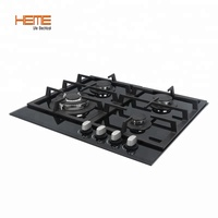 Home Appliances 60cm Tempered Glass 4 Burners built in Gas Hob Certified by CE
