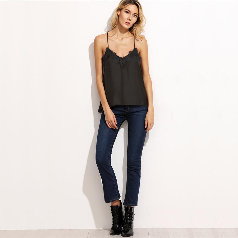 6a816fd7f84 ... SheIn-Black-Tank-Top-Women-Spaghetti-Strap-Sexy- vest160930701(2)  vest160930701(5) vest160930701(4)