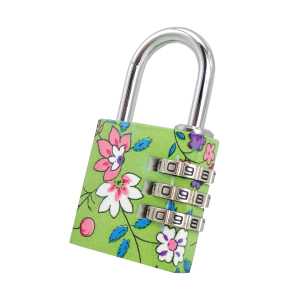 9d4fcaecf3ad 3 Code Wheels Cute luggage Combination Padlock Flower Pattern Lock for  School/ Gym/Dormitory/Cabinet/Drawer