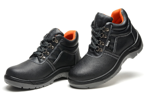 Steel toe PU safety shoes with factory wholesale price