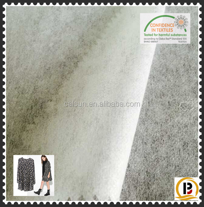 Fusible non woven fabric / Scatte powder tear away Nonwoven interlining for garment/shoe/cap/bag (#82240)