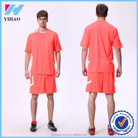Trade Assurance Yihao 2016 Men 100% Polyester custom Soccer Jersey Sublimation Printed Soccer Wear T Shirts Wholesale