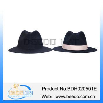 0ae2c599e68 100% Wool Felt Men Floppy Fedora Hat Blank Wholesale Muslim Hat ...