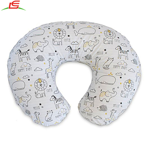 Wholesale 2018 New Design Pattern 100% Cotton Baby Boppy Nursing Pillow And Positioner