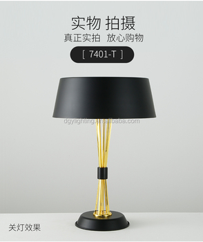 Classic Bed Side Decorative Gold Black Luxury Warm Lamp Hotel Modern Table Light For Restaurant View Table Light For Restaurant Dgy Product Details