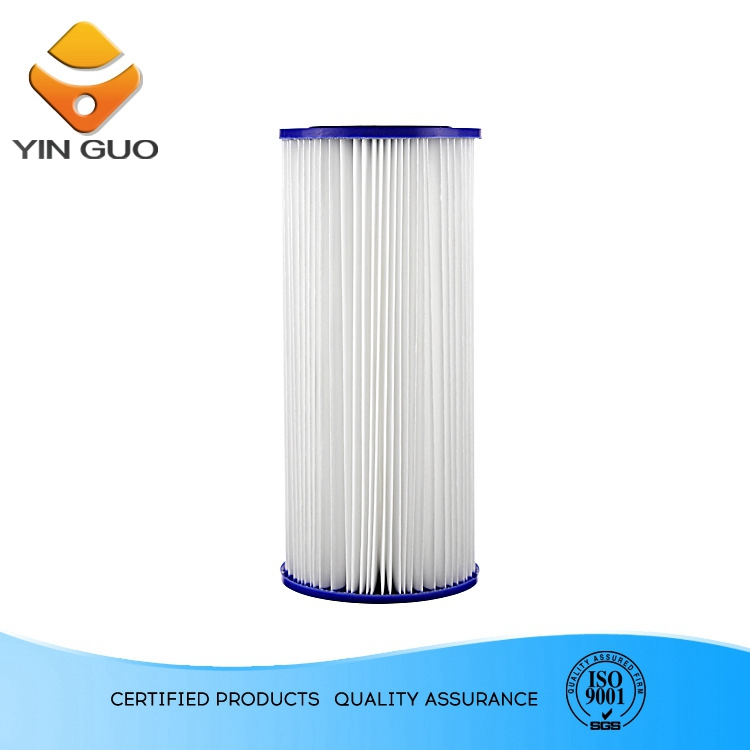 main line water filter polyester pleated filter cartridge alkaline water systems