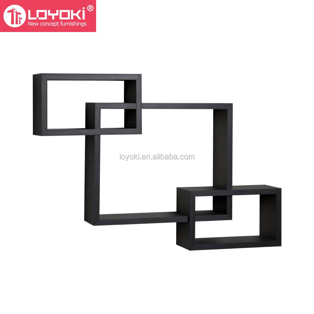 Nuovo design mdf di legno mensola scaffale cubo di disegno for Nuovo design di mobili
