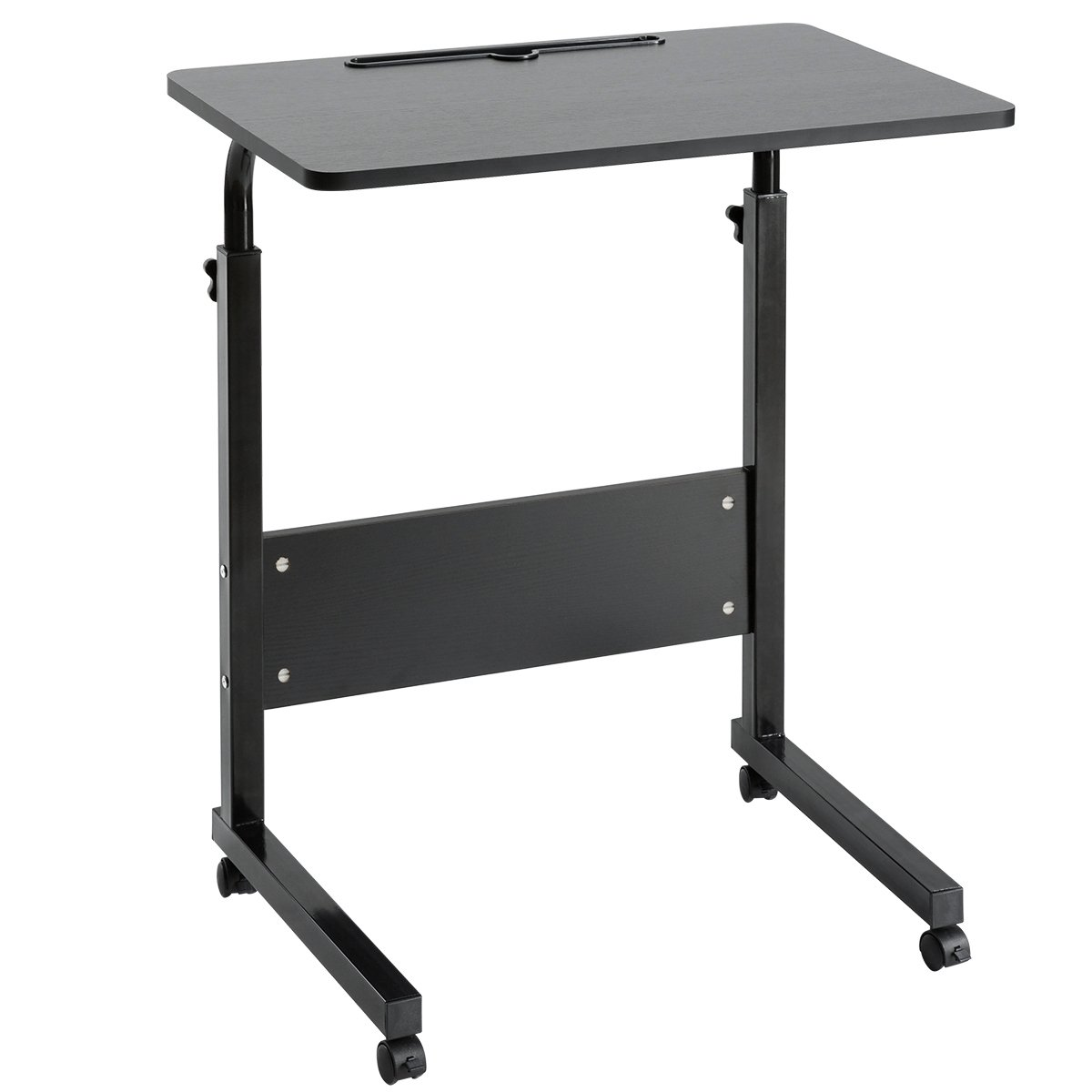 Picture of: Bedroom Bed Side C Shape Small Wooden Top Metal Frame Adjustable Height Study Laptop Desk Table With Wheels For Kids Study Buy Desk Table With Wheels Adjustable Study Table Table For Kids Study