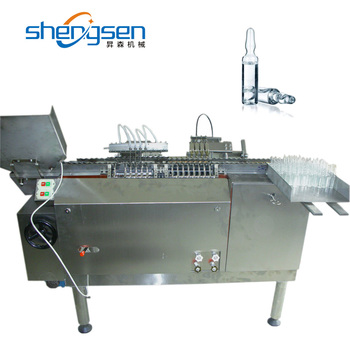 Professional Custom Ampoule 4 Nozzles Automatic Ampoule Filling And Sealing Machine