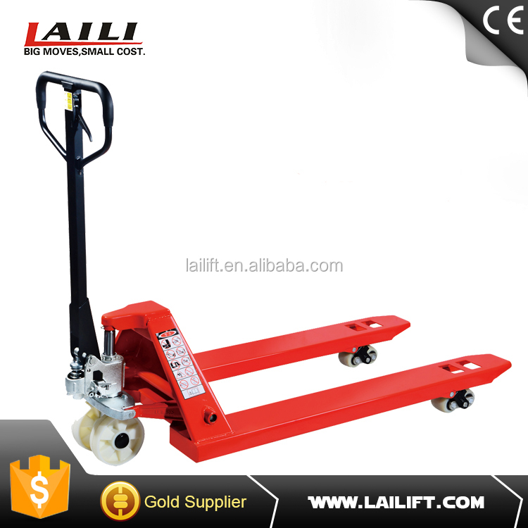 hand hydraulic pallet jack with,PU wheel,nylon wheel