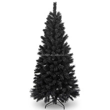 8ft black slim artificial pvc christmas trees for holiday outdoor home decoration