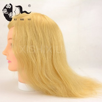 2017Wholesale Salon Equipments Silky Straight Long Human Hair Mannequin Barber Training Head