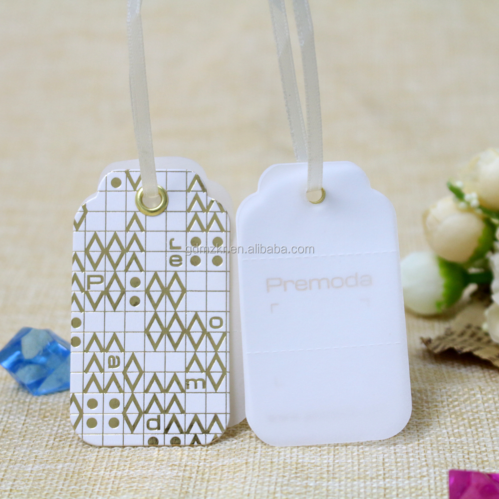 Printable plastic labels plant dresses hang tag