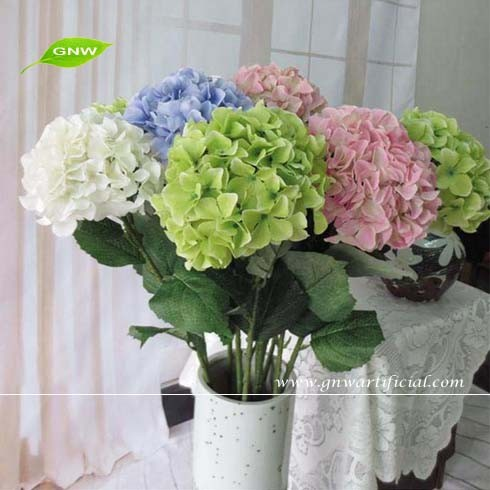 GNW FLH05 Wedding Bride bouquets Various Silk Fabric Hydrangea Artificial Flower Making