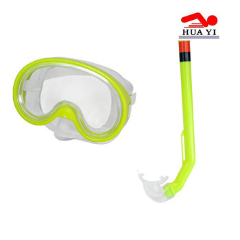 PVC custom durable swimming mask and snorkel set
