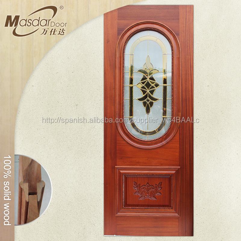 Pequeño exterior puerta de madera modelo con el vidrio-Puertas ...