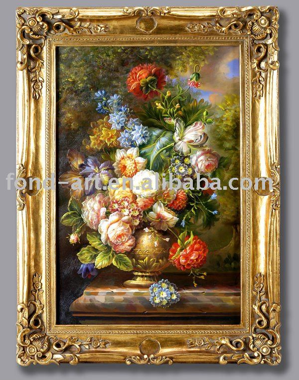 5501 European Style Antique Framed with Handmade Oil Painting on Canvas