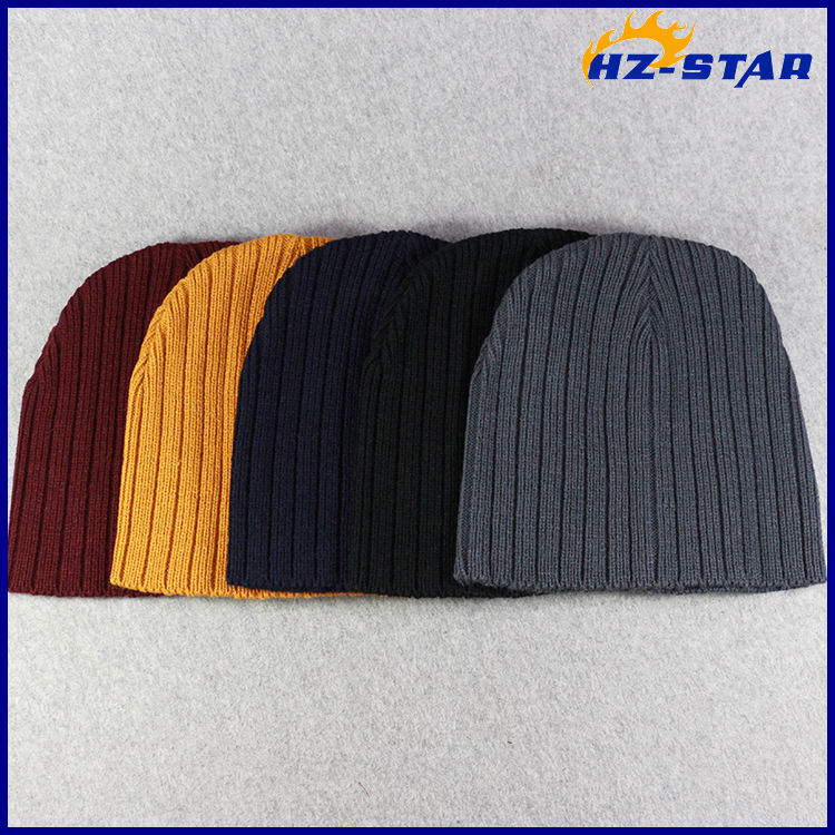HZM-16290011 top design hot cable knitted different types of knit mens caps