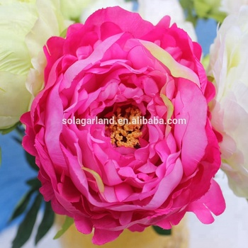 Home Decoration Handmade Table Decor Artifical Peony Silk Flower