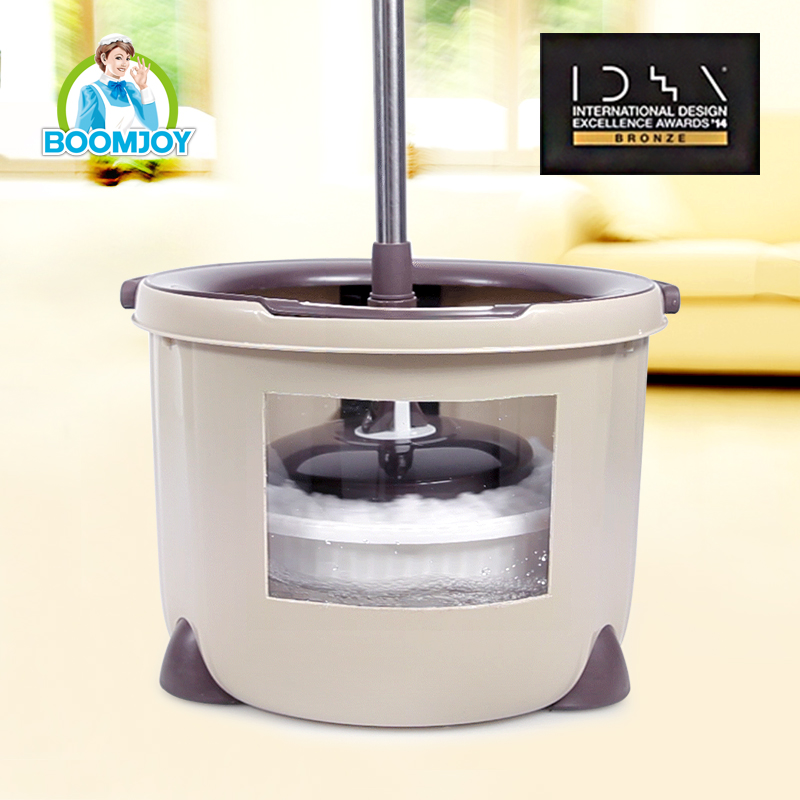 360 DEGREE ROTATING MAGIC TELESCOPIC PLASTIC SINGLE MOP WRINGER BUCKET SPIN MOP