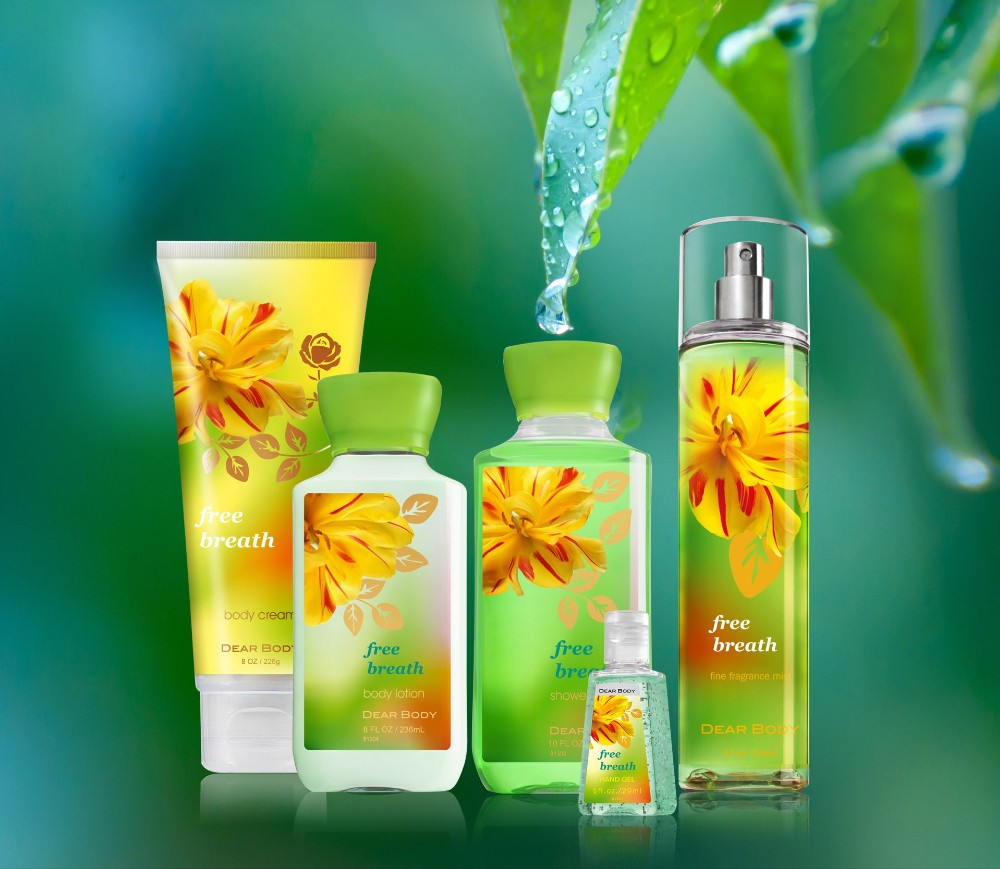 Hot sale gift set soft flower body cream spa works hand lotion