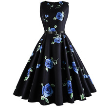 2018 New Trendy Custom Digital Sublimation Floral Print Dress For Women