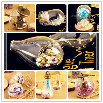 2014 NEW Glass Dome Cover Tube Glass Cover DIY Glass Fingdings Jewelry Glass Bottle Dome