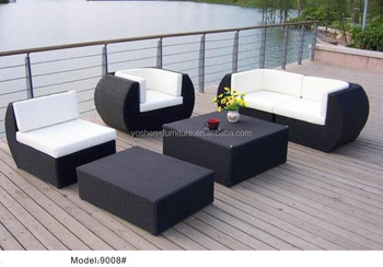 6 Piece Wicker Rattan Curved Sofa With Chaise Lounger Chair Patio Set Living Room Sofa Buy Outdoor Wicker Sectional Sofa L Shaped Sofa And Cuddle