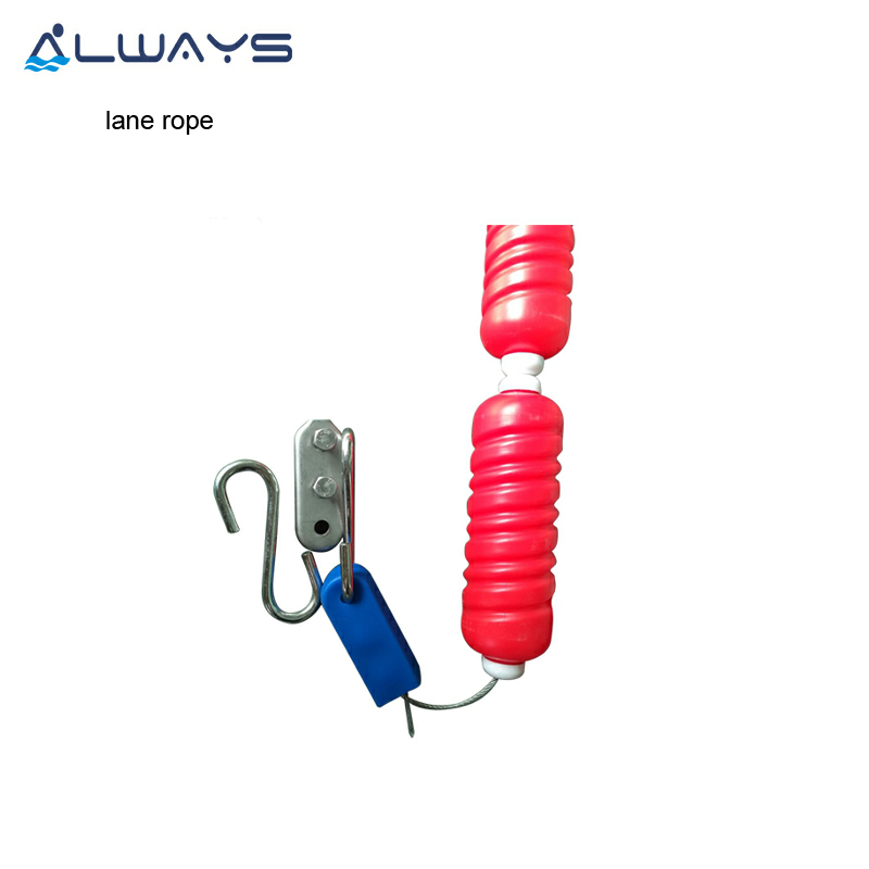 Colorful new design standard float lane rope line with hook for competition