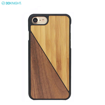 Custom Design Slash Walnut Bamboo Wood SmartPhone Case For iphone 8