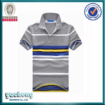 China Supplier Polo T Shirts Latest Design Mens Striped Polo Y/d ...