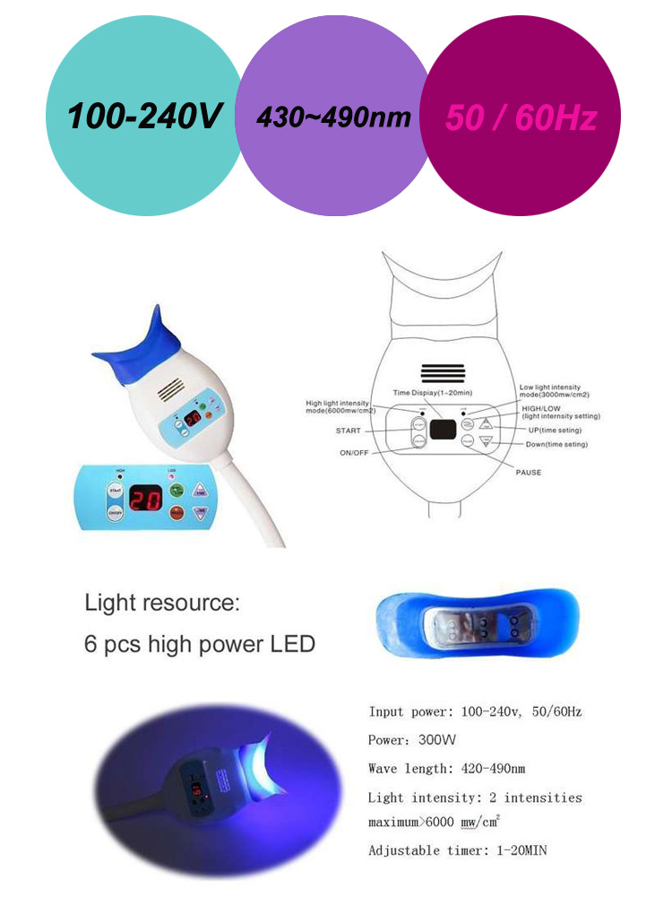 Practical LED Dental Equipment Teeth Whitening Led Lamp