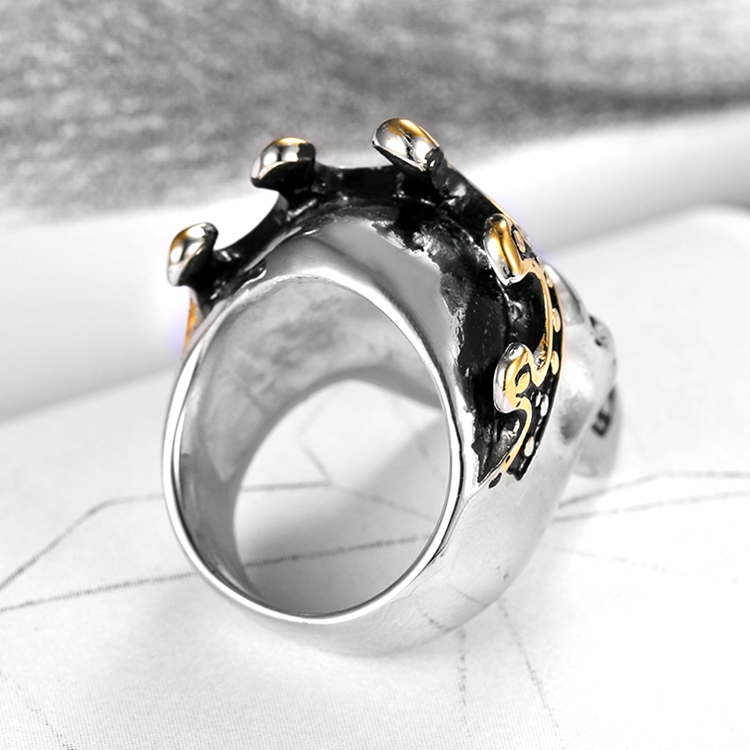 Vintage Rings For Men Women Lovers Fashion Cool Jewelry Skull Crown