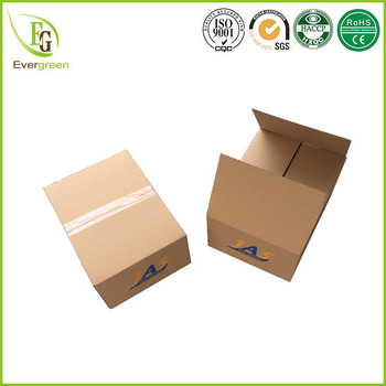 Special Length Template Design Carton Packing Box With Two Pantone Colors Custom Logo