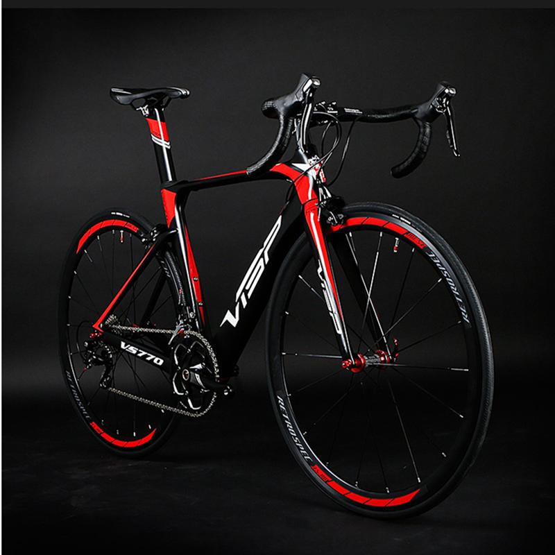 חם אור סיבי פחמן 18 מהירות אופני כביש