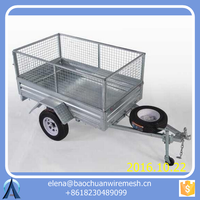 Baochuan 8*5 tandem trailer with cage / China Tandem Cage trailer