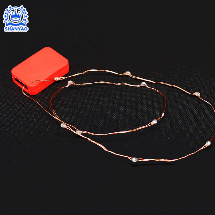 Hot Selling Flexible LED Copper Wire Strip Light with button led Teepee light