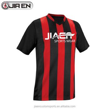 7b96b4d7a Customized stylish striped soccer jerseys wholesale thailand quality  football jersey
