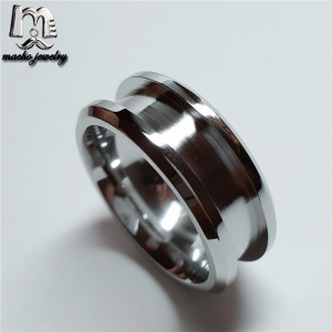 2018 Cheap wholesale stainless steel blank ring for inlay