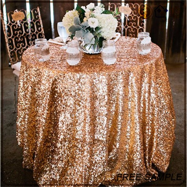 shiny gold sequin table cloth malaysia for christmas wedding decoration